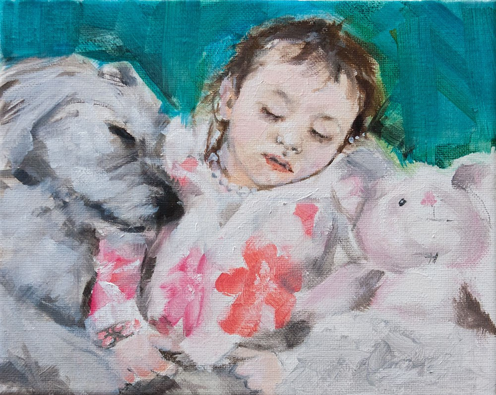 """Pretty in Pink"" original fine art by Clair Hartmann"