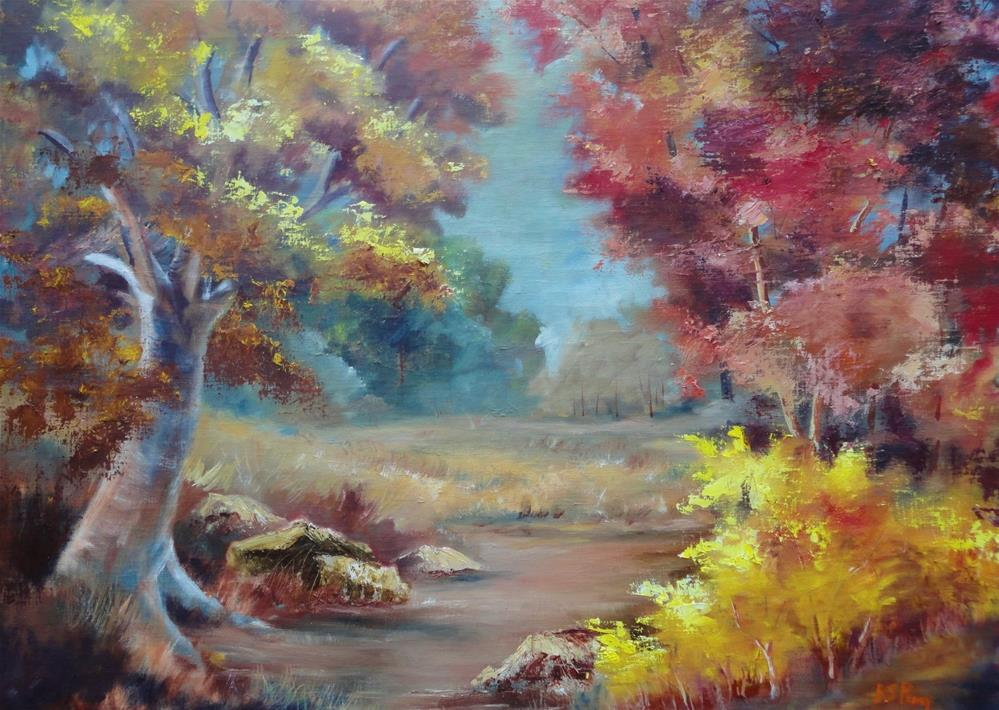 """Fall in Heber Springs, Arkansas "" original fine art by R. S. Perry"
