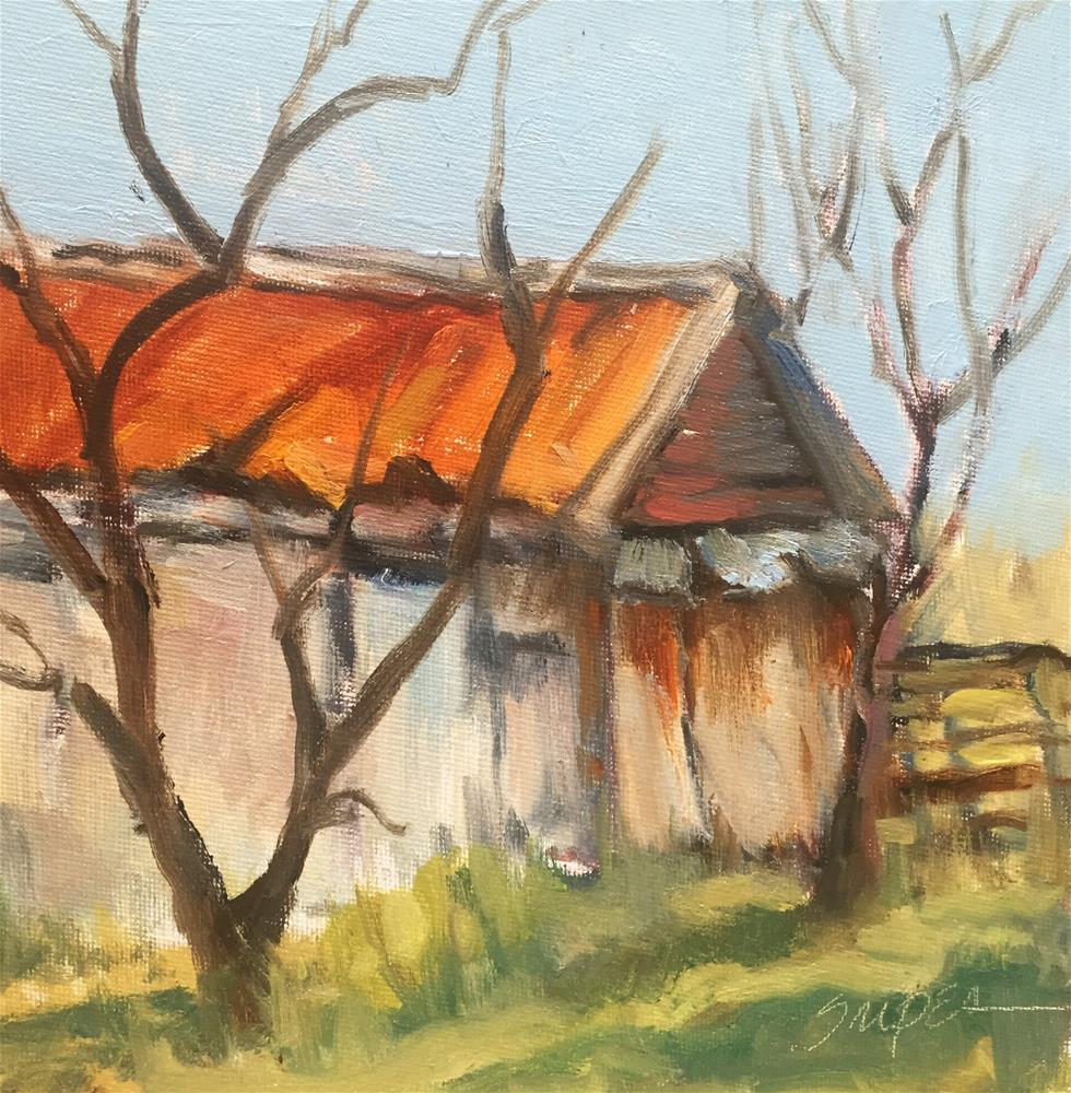 """It's Seen Better Days, Hunter Farm"" original fine art by Connie Snipes"