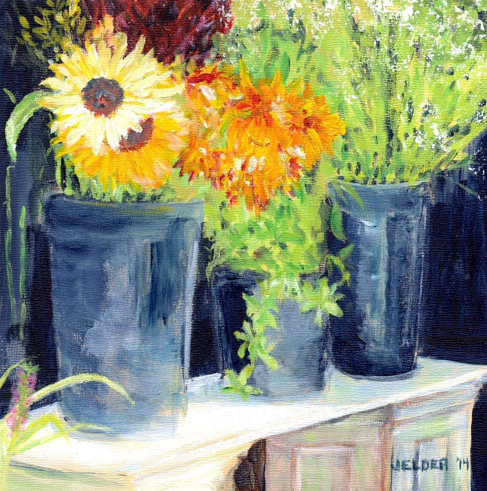 """Sunny Flowers, B'ham No. 14"" original fine art by Judith Elder"
