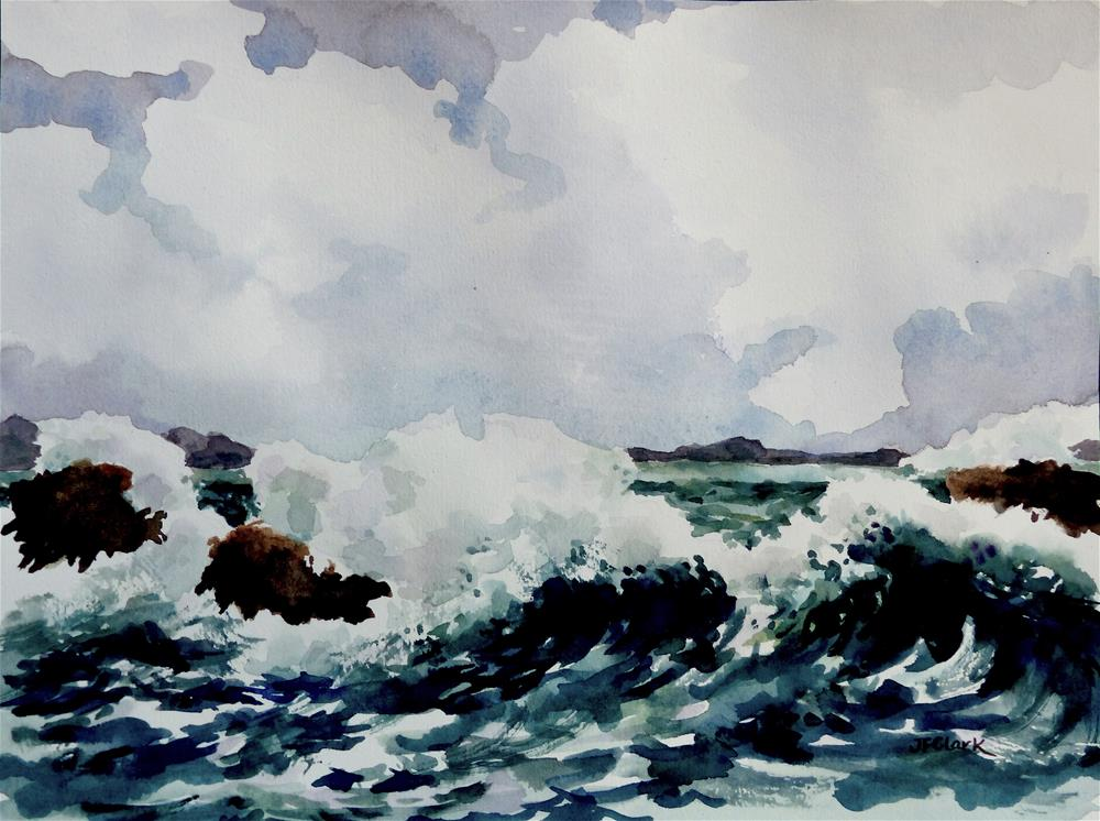 """Blowing Out to Sea"" original fine art by Judith Freeman Clark"