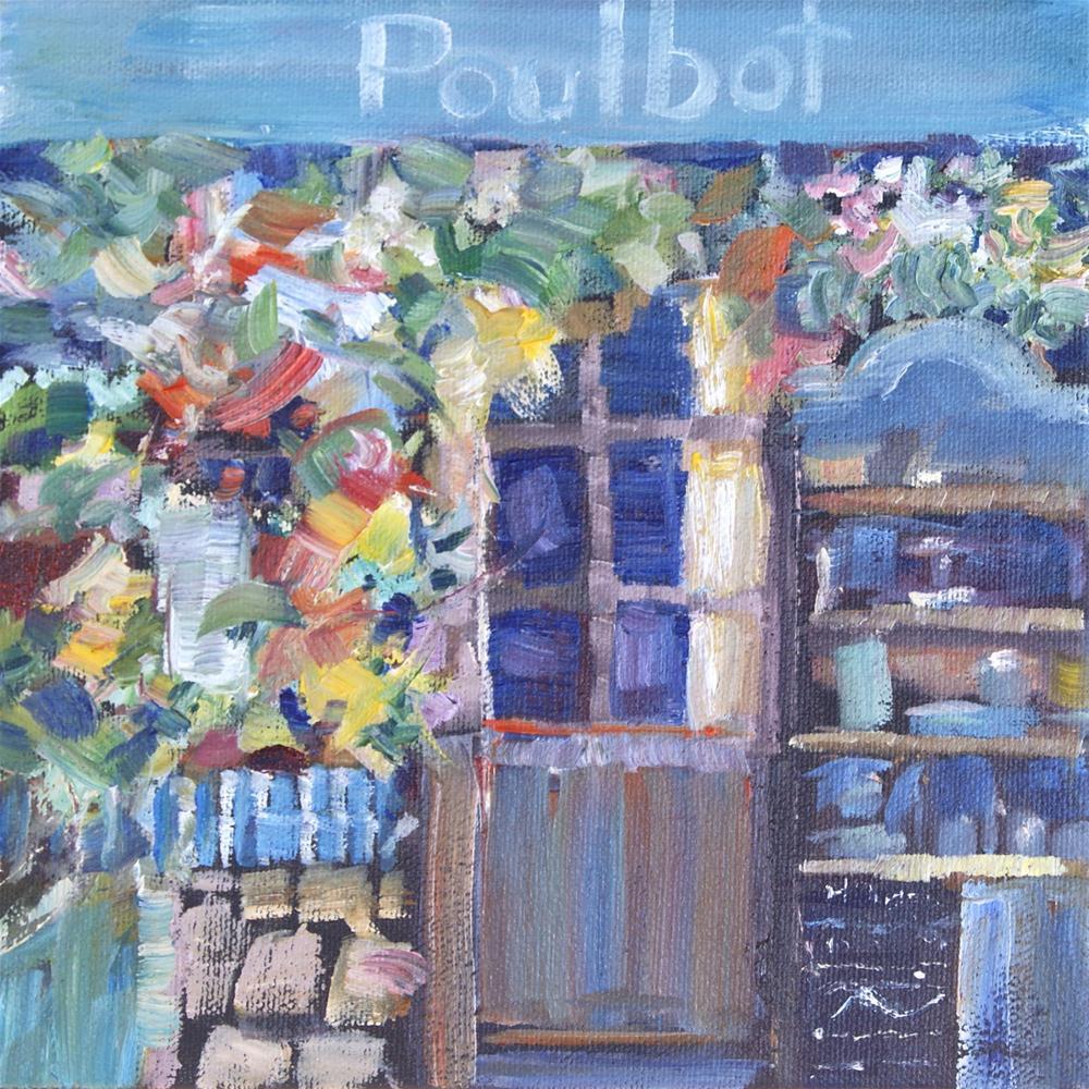 """""""Bistro Poulbot, Paris"""" original fine art by Reveille Kennedy"""