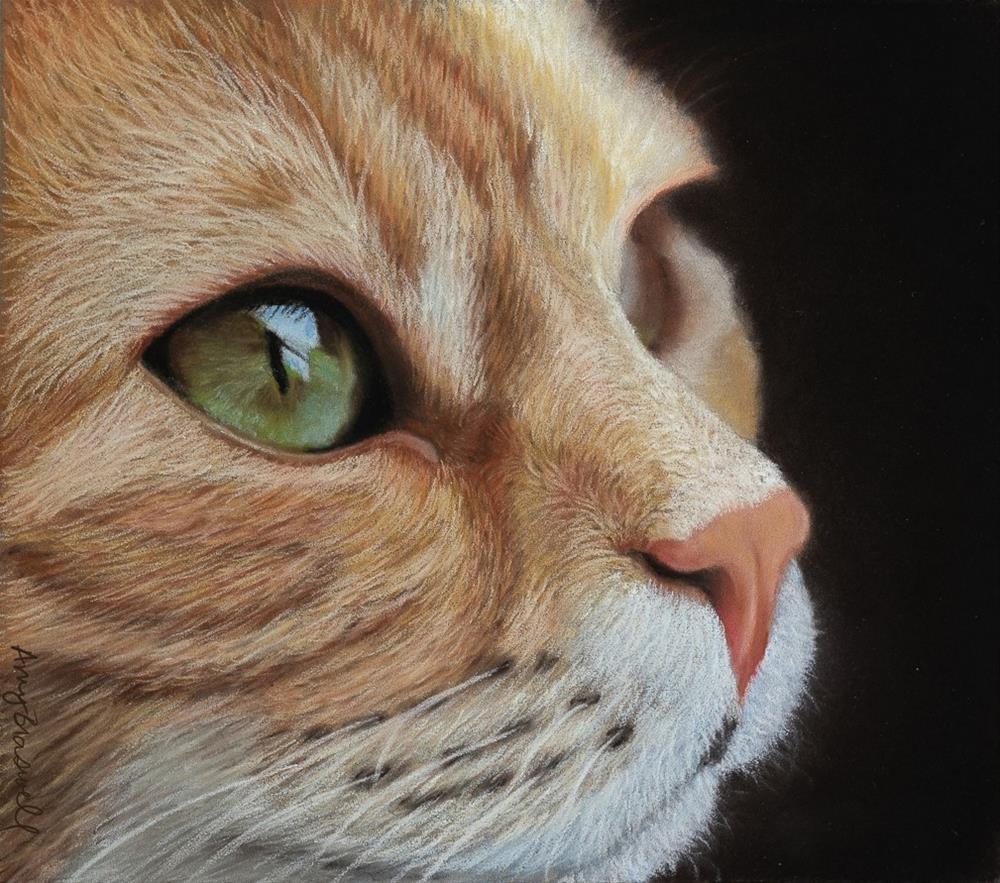 """""""Ginger Kitty"""" original fine art by Amy Braswell"""