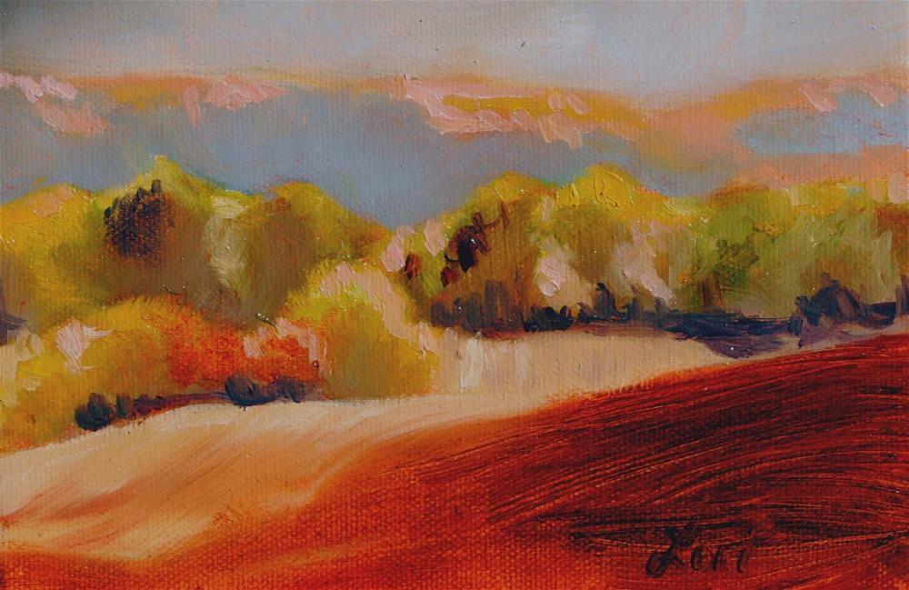 """NY Mountains"" original fine art by Lori Jacobs - Farist"