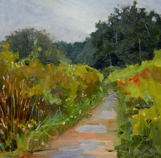 """Wetland Trail Point no point, plein air, landscape painting by Robin Weiss"" original fine art by Robin Weiss"