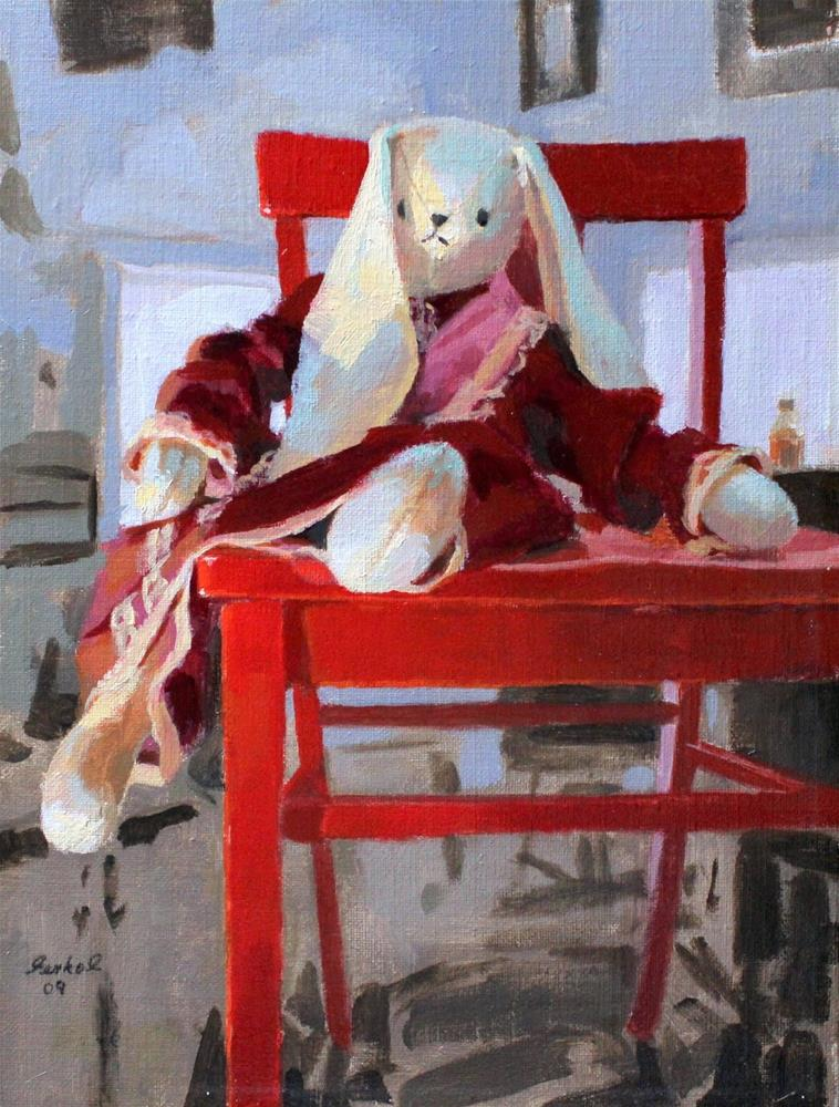 """Red Chair"" original fine art by Ron Ferkol"