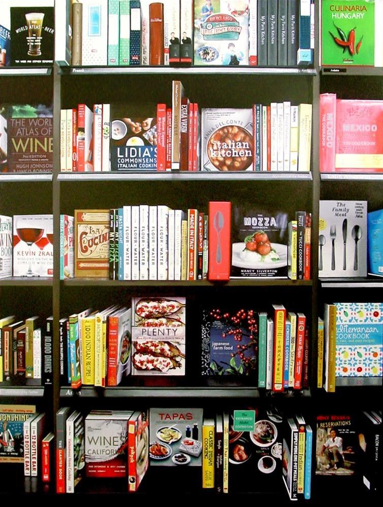 """Cookbooks- Still Life Painting Of Cookbooks"" original fine art by Gerard Boersma"