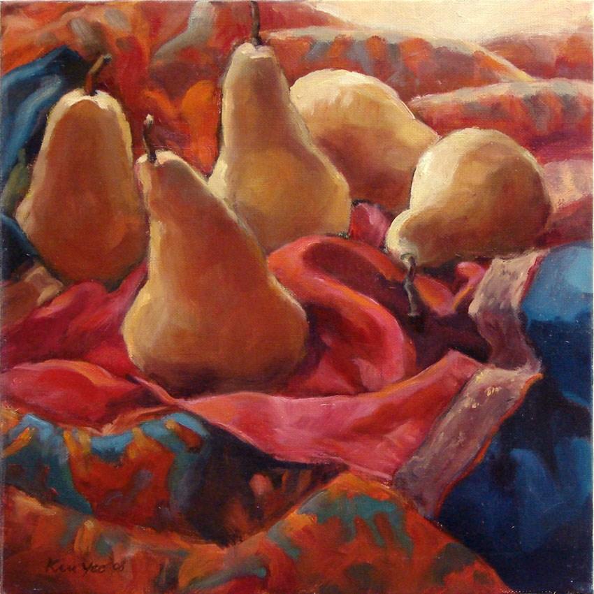 """Pears galore"" original fine art by Myriam Kin-Yee"