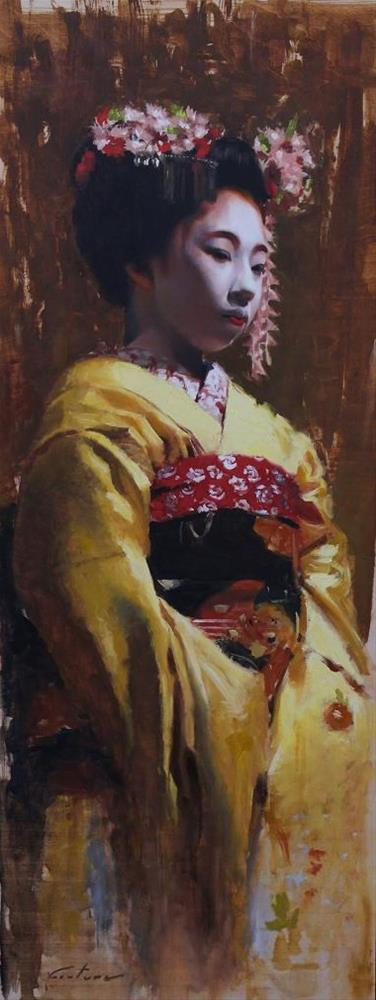 """""""Young Maiko"""" original fine art by Phil Couture"""