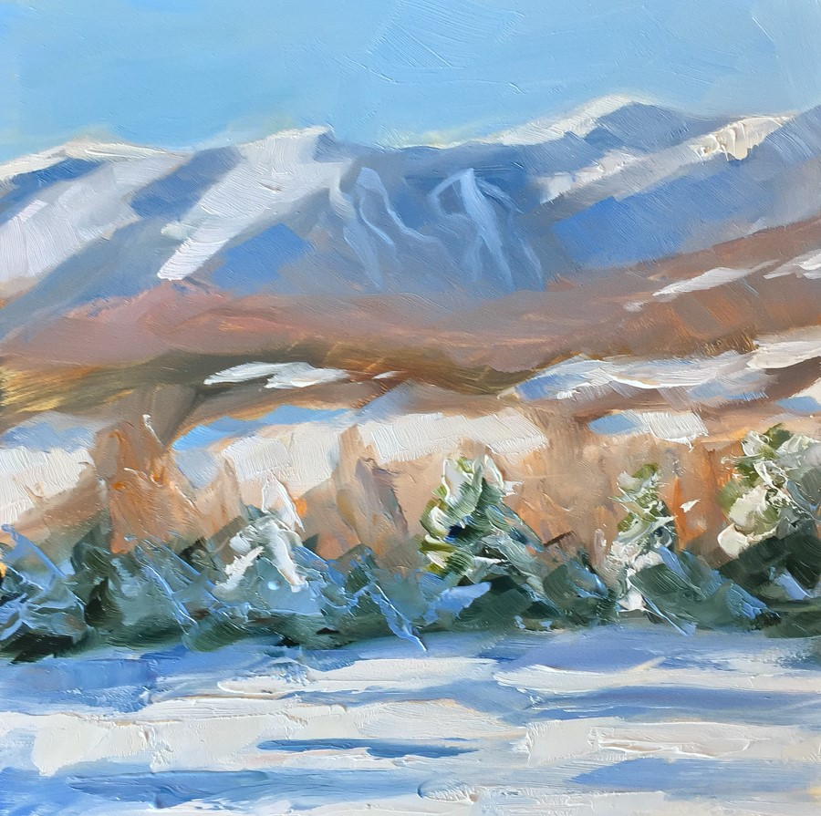 """#104 - Mt Mansfield - Stowe, VT"" original fine art by Sara Gray"
