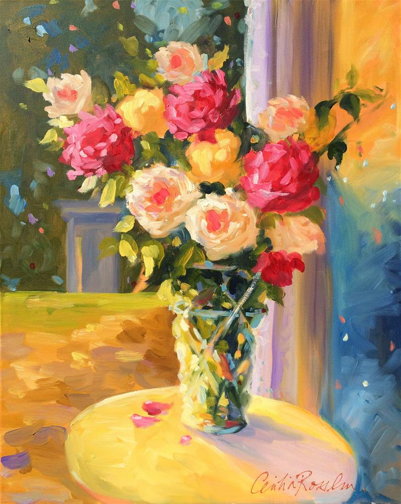 """""""SPILHAUSE ROSES"""" original fine art by Cecilia Rosslee"""