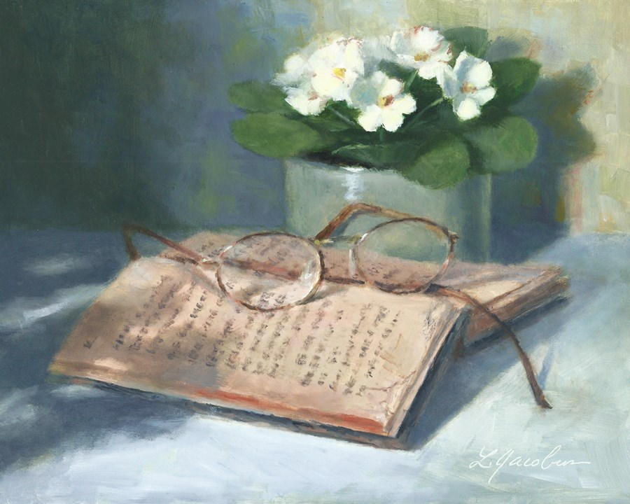 """An Old Read Book"" original fine art by Linda Jacobus"
