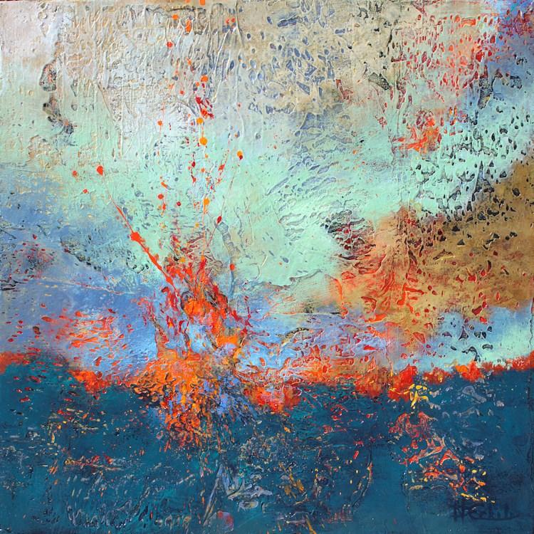 """Burst"" original fine art by Nancy Eckels"