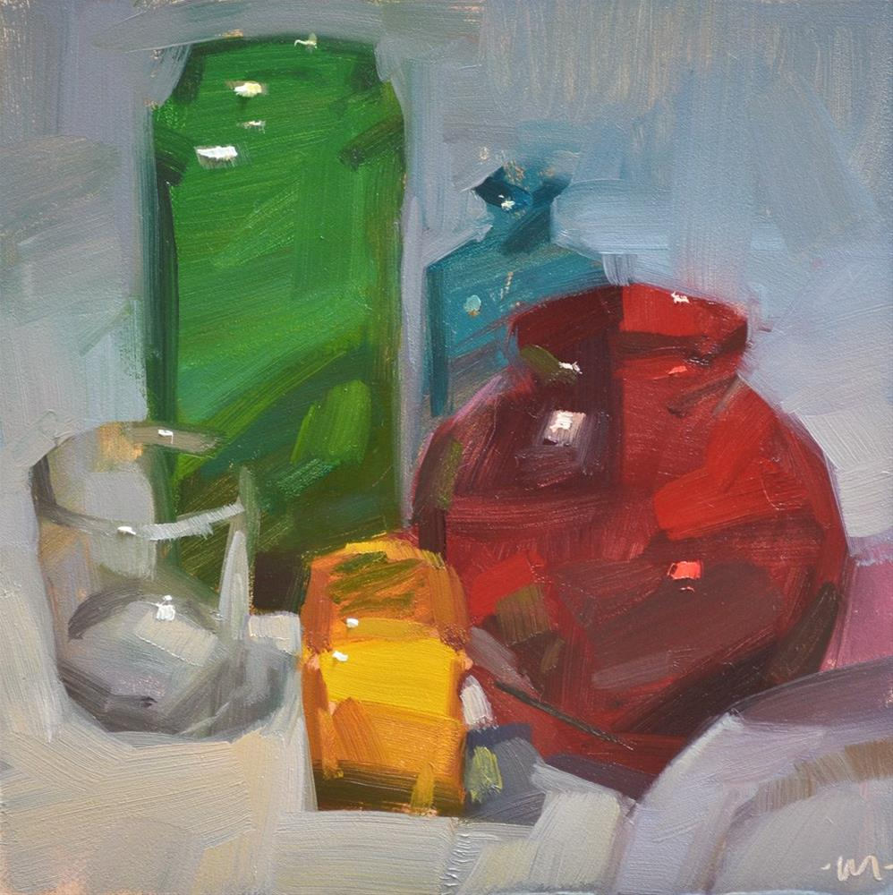 """Glass Class"" original fine art by Carol Marine"