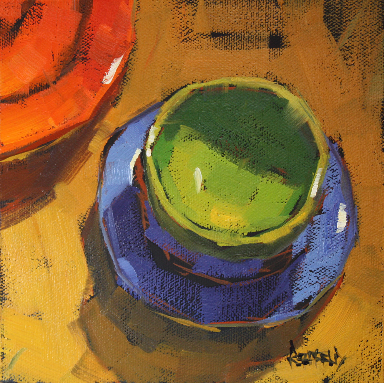 """""""Curry and Bright Colors"""" original fine art by Cathleen Rehfeld"""