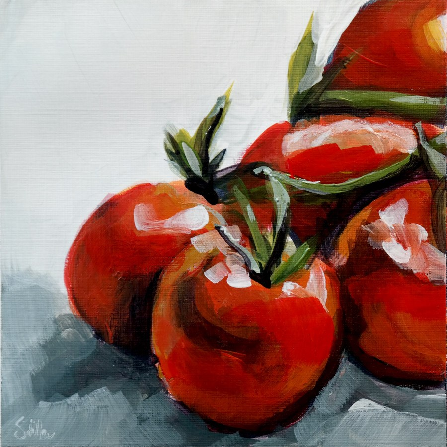 """2020 Tomato Salad"" original fine art by Dietmar Stiller"