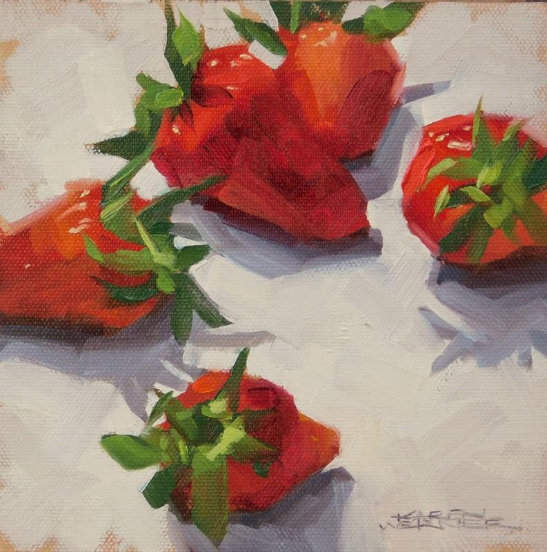 """""""Fresh Picked"""" original fine art by Karen Werner"""