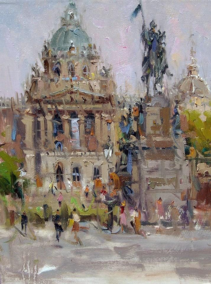 """Parliment building,Prague(Plein air)"" original fine art by Mostafa Keyhani"