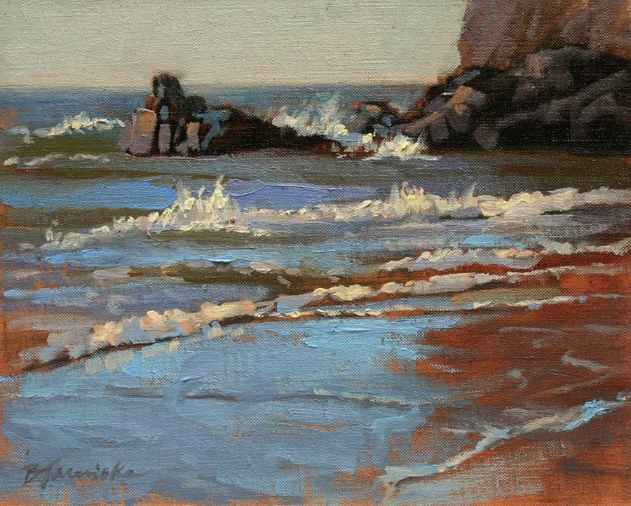 """Rocks and Ocean Study 3"" original fine art by Barbara Jaenicke"