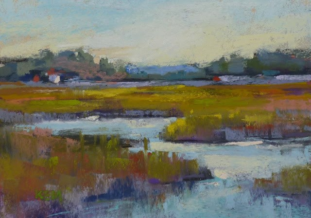 """'Timeless Tides' Marsh & Weekly Art Wisdom from the Masters"" original fine art by Karen Margulis"