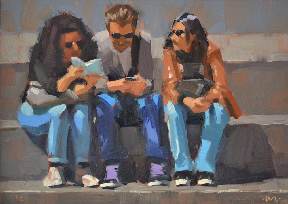"""Foreign Exchange Students"" original fine art by Carol Marine"