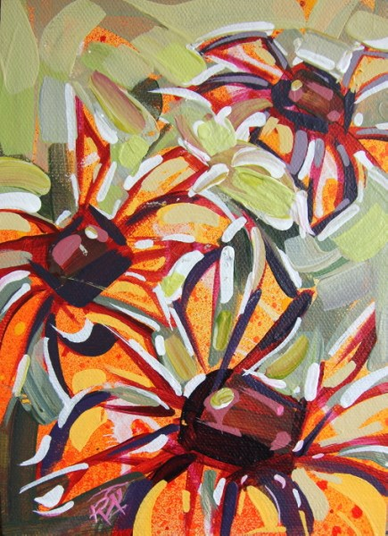 """Flower Abstraction 222"" original fine art by Roger Akesson"