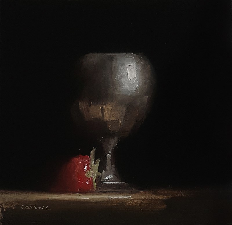 """Goblet with Strawberry"" original fine art by Neil Carroll"