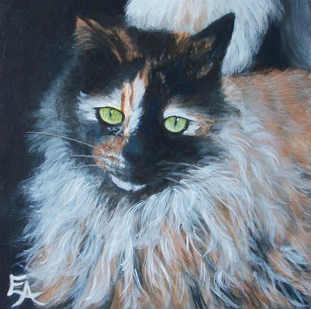 """Colorful Cat"" original fine art by Elizabeth Elgin"