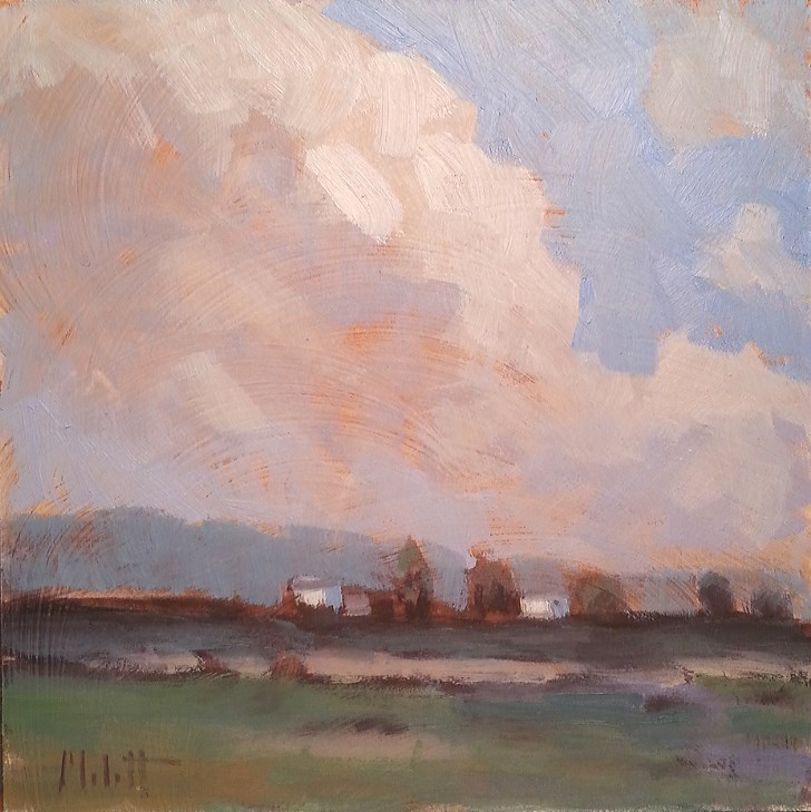 """Big Sky Painting Alla Prima Oil"" original fine art by Heidi Malott"