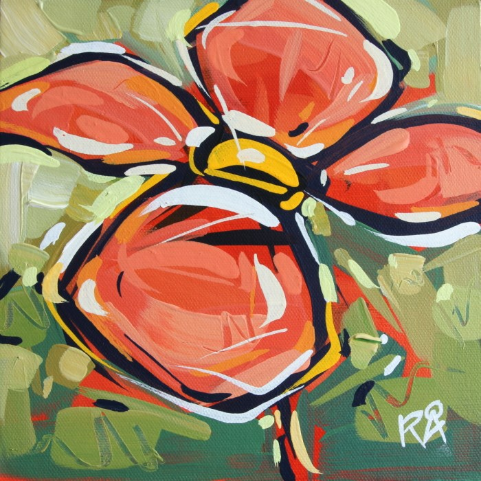 """""""Flower Abstraction 125"""" original fine art by Roger Akesson"""