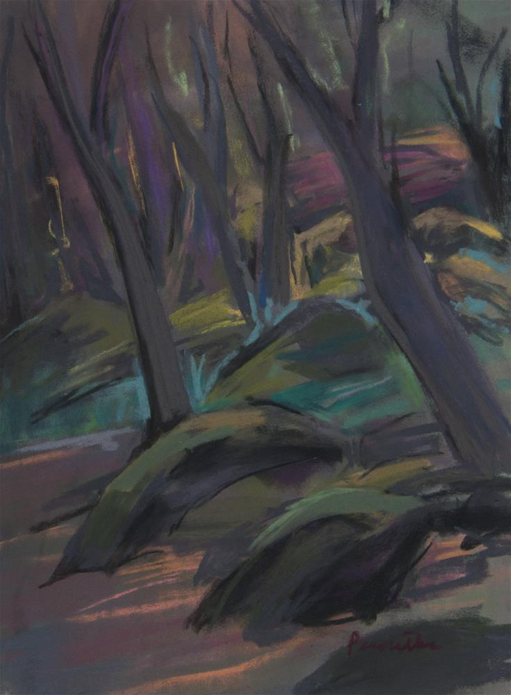 """""""Trees and Rocks"""" original fine art by Sarah Peroutka"""