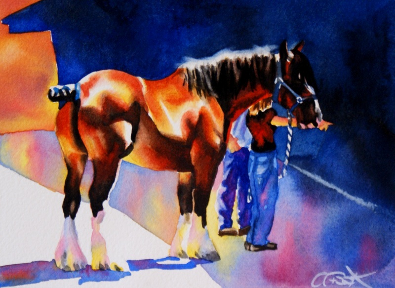 """""""Pointed Conversation"""" original fine art by Crystal Cook"""
