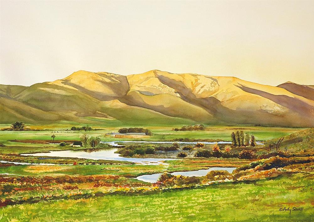 """Silvercreek Gold"" original fine art by Andy Sewell"