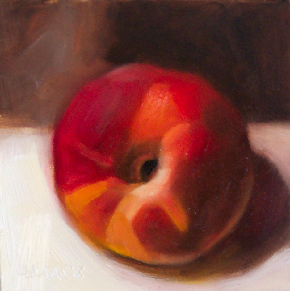 """Peachy II"" original fine art by Cindy Haase"