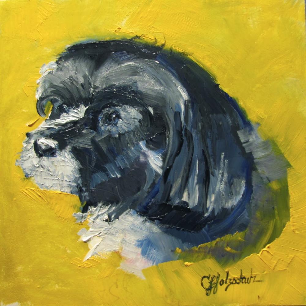 """Sally"" original fine art by Christine Holzschuh"