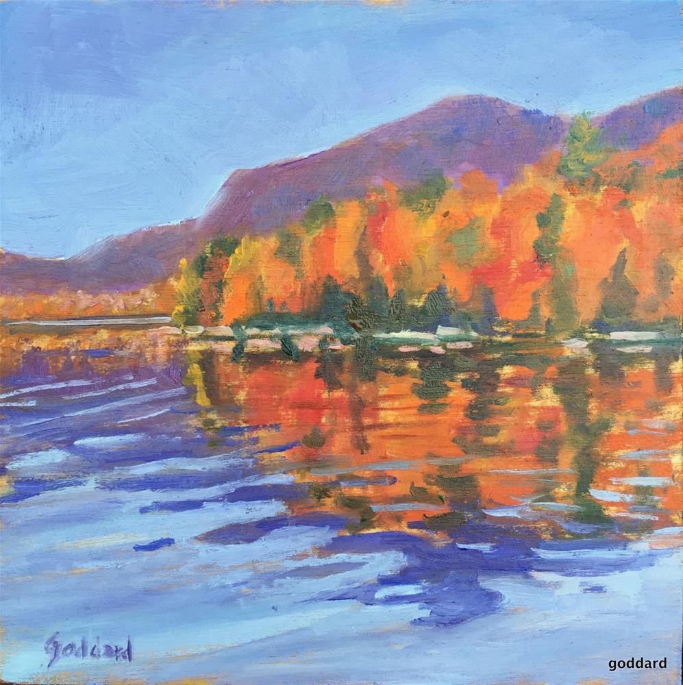 """Reflections on Fall Colors"" original fine art by Shari Goddard Shambaugh"