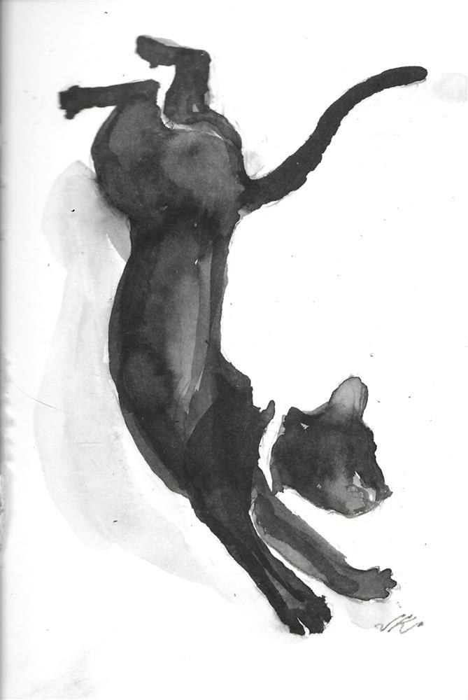 """Daily Cat 51"" original fine art by Jean Krueger"