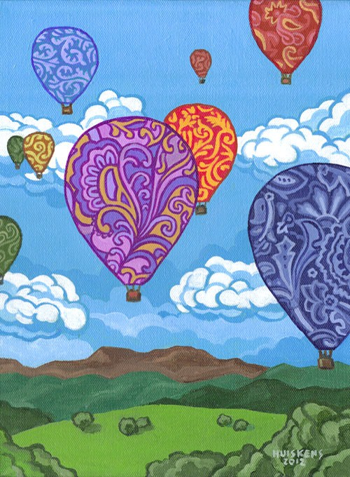 """Hot Air Balloons"" original fine art by Randal Huiskens"