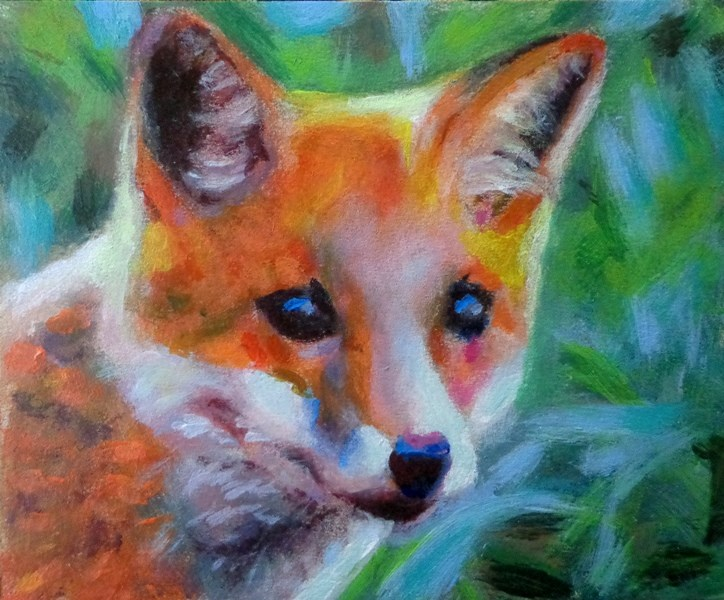 """Fox"" original fine art by Maria Z."