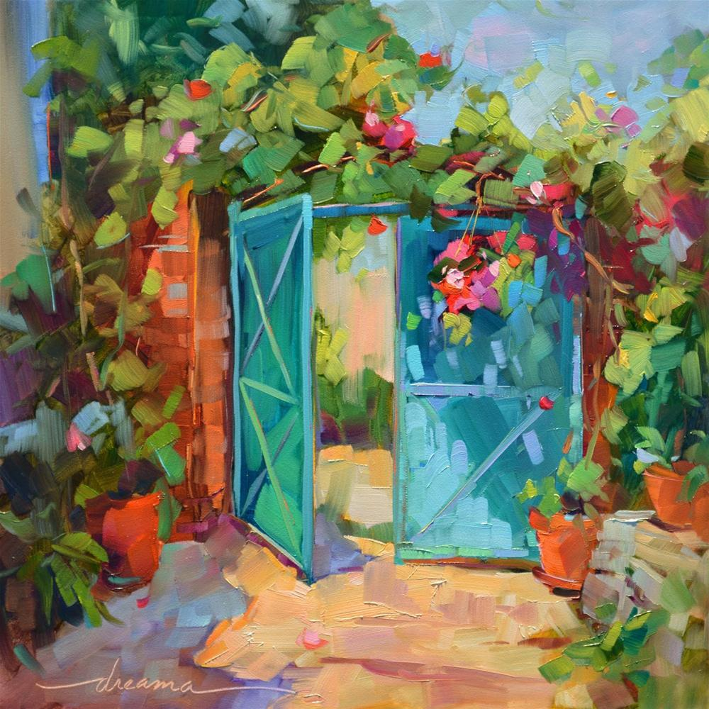 """""""French Beginnings"""" original fine art by Dreama Tolle Perry"""