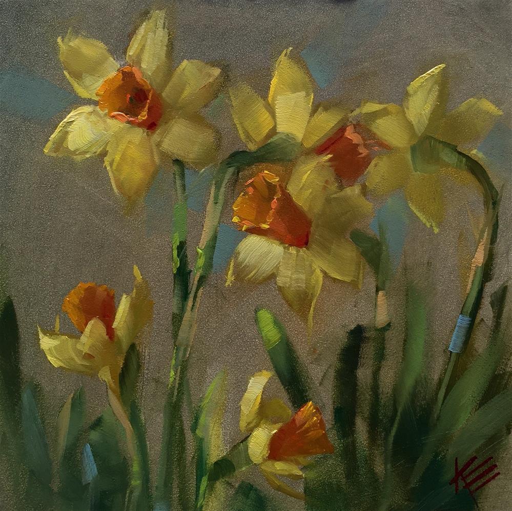 """""""Daffodil Delight"""" original fine art by Krista Eaton"""