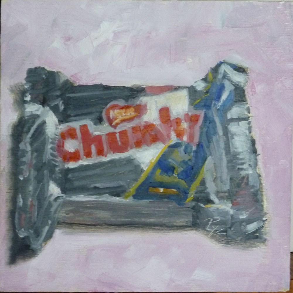 """Chunky Chololate Candy Bar"" original fine art by Mary Pyche"