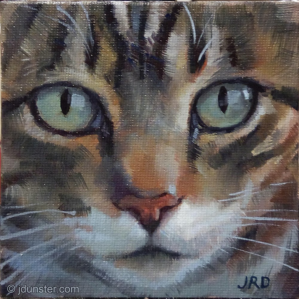 """Soulful Tabby"" original fine art by J. Dunster"