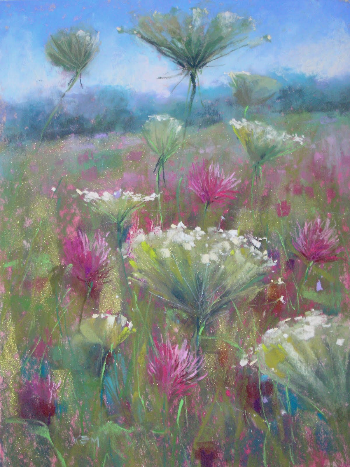 """Meadow Bouquet   12 x16   pastel"" original fine art by Karen Margulis"