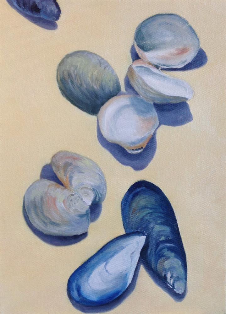 """""""Clams and Mussels"""" original fine art by Karen Collins"""