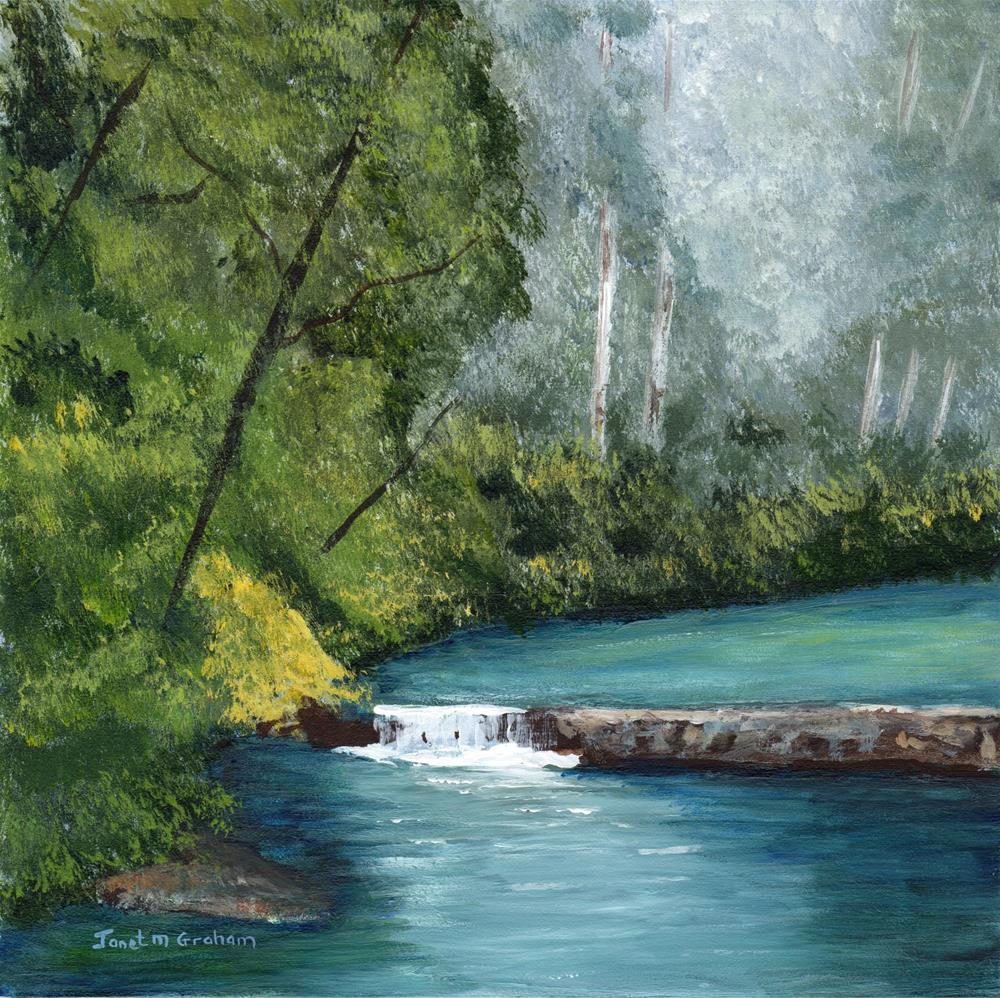 """River in the Forest"" original fine art by Janet Graham"