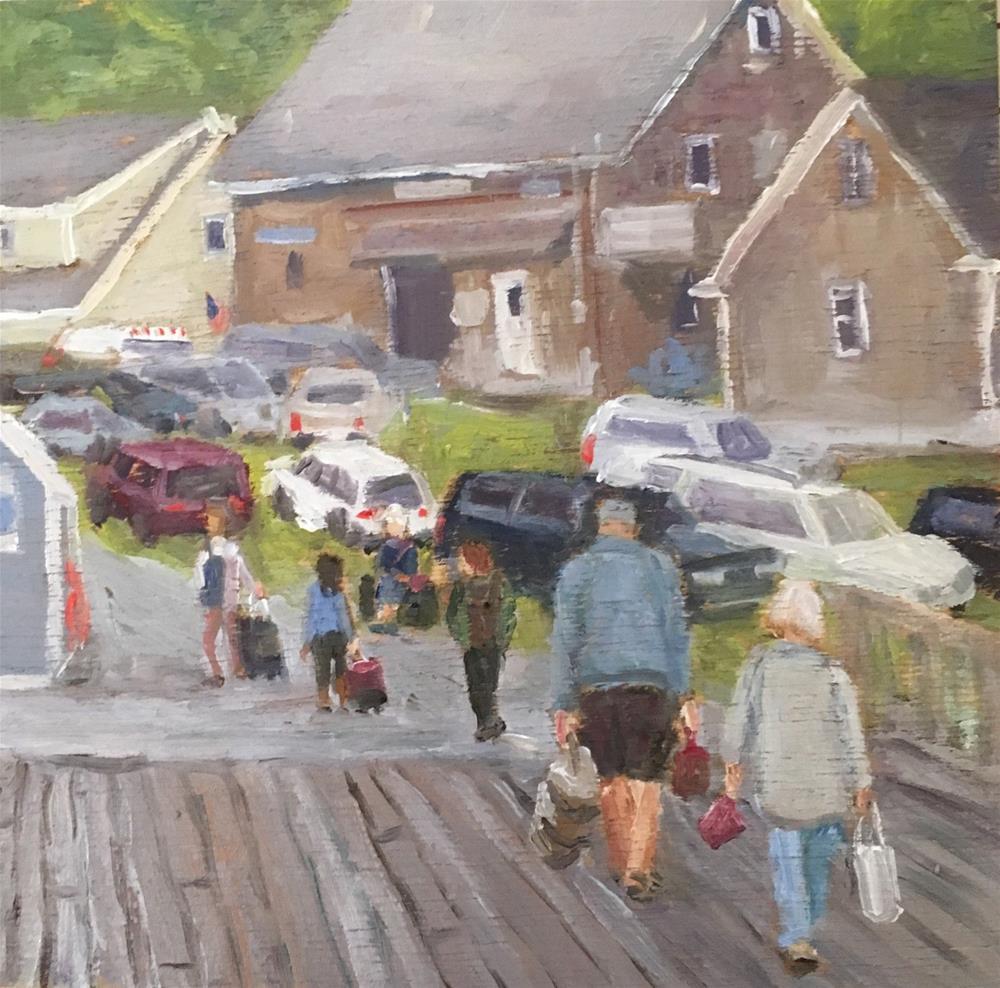 """Island Ferry"" original fine art by Shari Goddard Shambaugh"