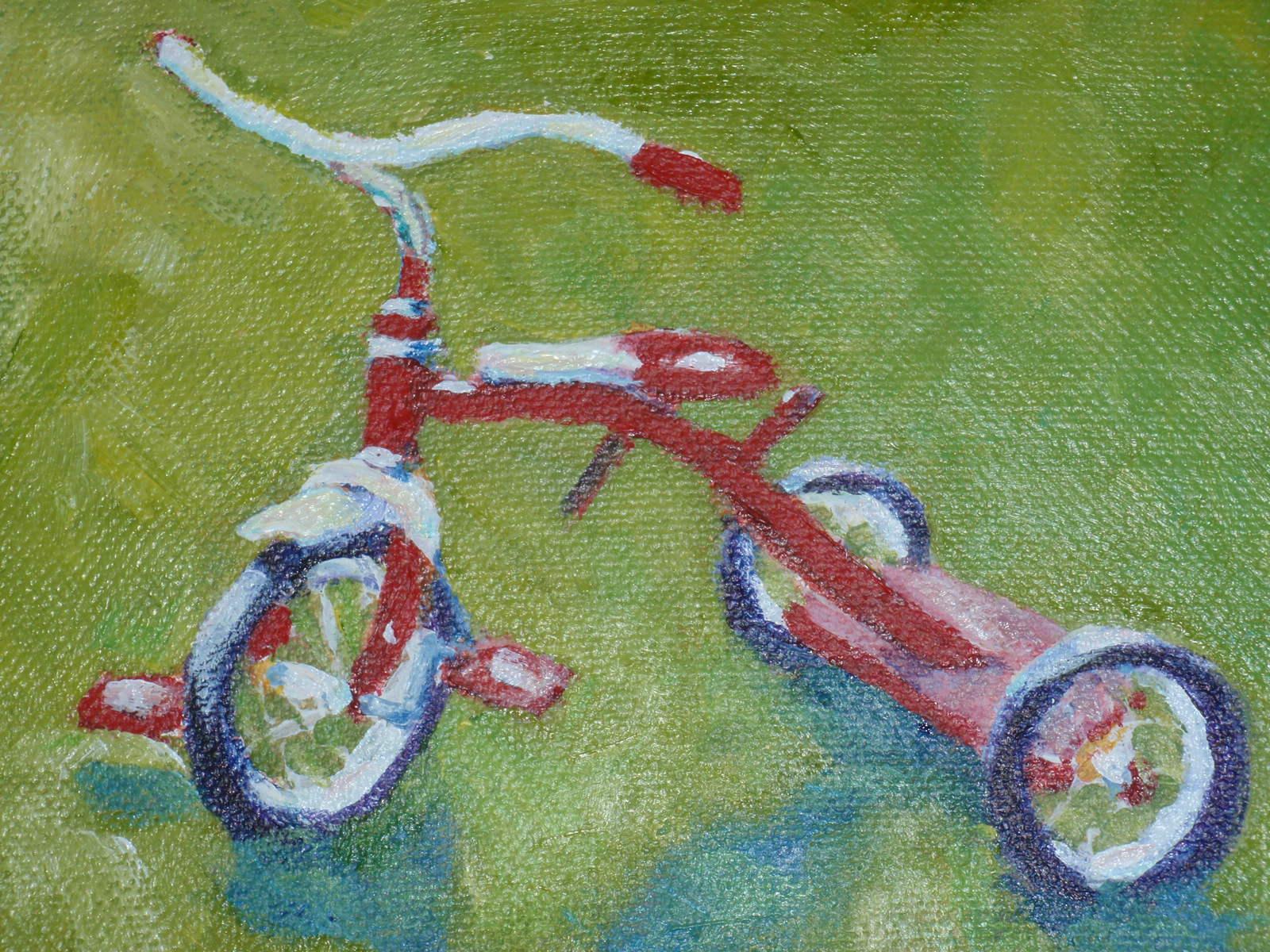 """tricycle"" original fine art by Shelley Garries"