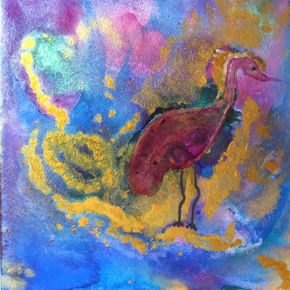 """Stork"" original fine art by Susan Medyn"