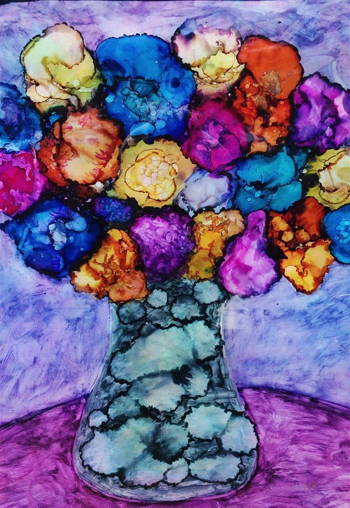 """""""blooming pastels"""" original fine art by Kris Alge"""